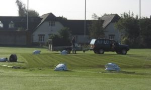 Goatacre Cricket Club ground preparation