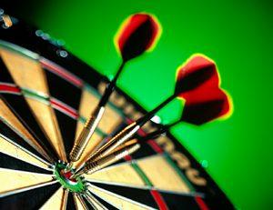 Dart board and darts image