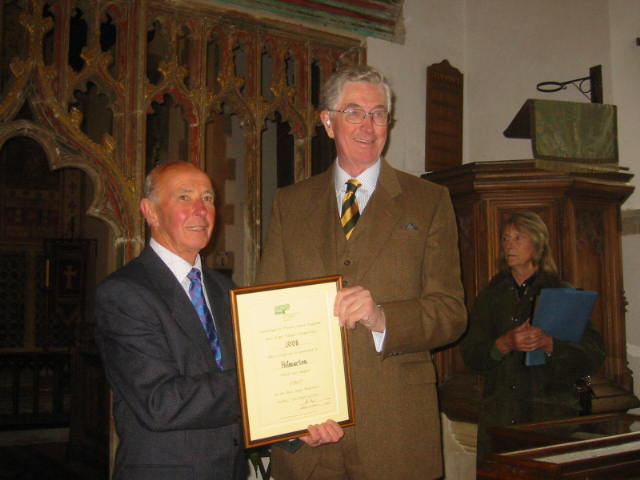 Framed CPRE Certificate Presented by Mr J Bush OBE, to Mr John Reeves