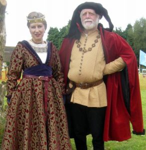 Couple in medieval costumes